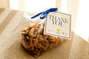 Thank you gift at Cathedral Commons grand opening