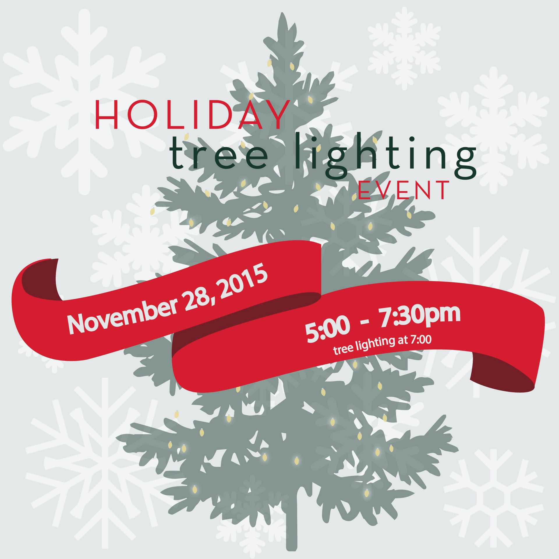 First Holiday Tree Lighting!